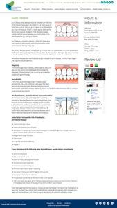 Downtown Dental Associates website: Inside page