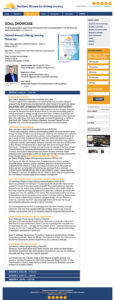 SunCoast Alliance for Lifelong Learning website: Inside page with toggles
