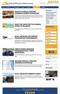 SunCoast Alliance for Lifelong Learning website: Blog/News listing page