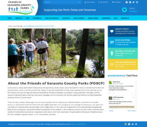 Friends of Sarasota County Parks inside page by Rough & Ready Media