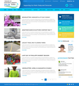 Friends of Sarasota County Parks blog list page by Rough & Ready Media