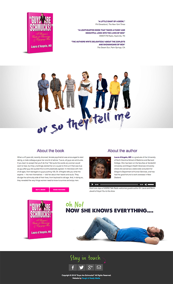 Guys Are Schmucks Guys Are Schmucks Website Design by Rough & Ready Media
