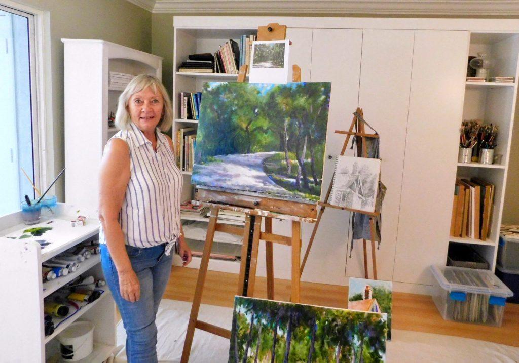 Sarasota impressionistic artist Linda Greaves