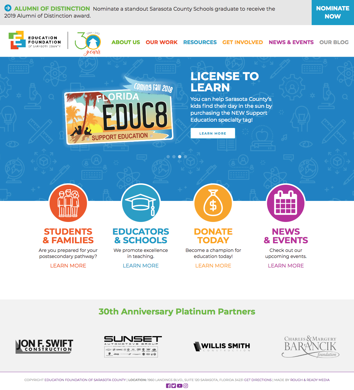 Education Foundation of Sarasota County Website Design by Rough & Ready Media