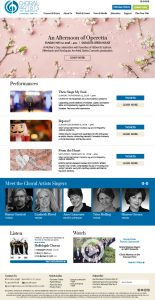 Choral Artists of Sarasota Website Design by Rough & Ready Media