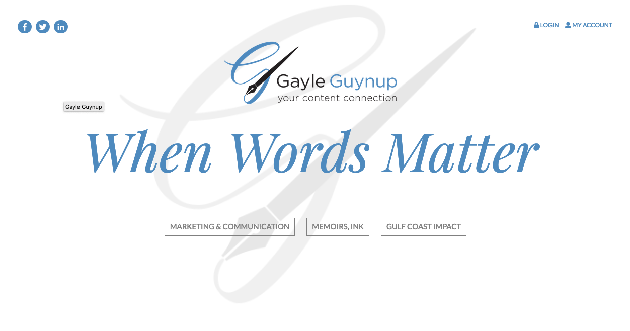 Gayle Guynuo Website Design by Rough & Ready Media