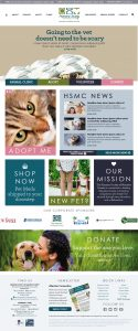 Humane Society of Manatee County Website Design by Rough & Ready Media