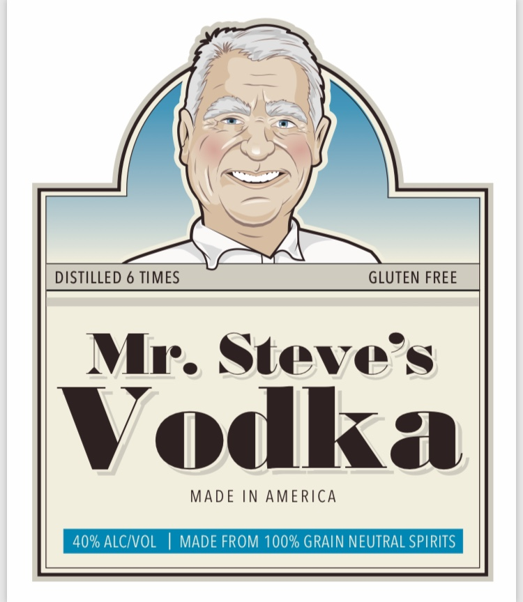 Mr Steve's Vodka label