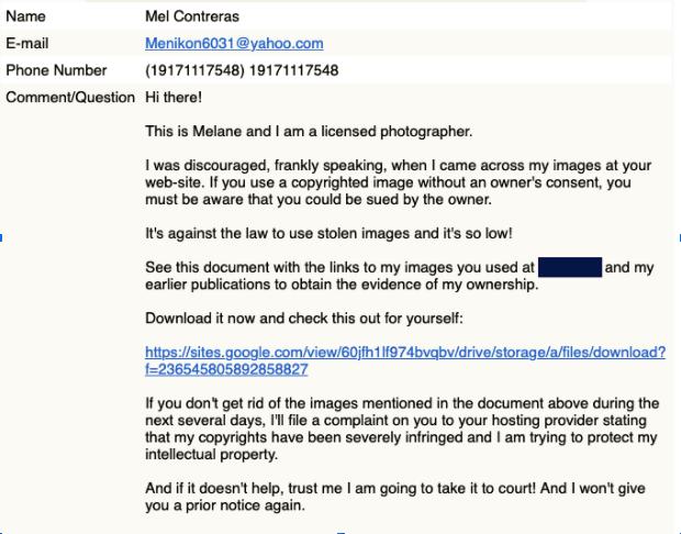 Phishing Scam example.